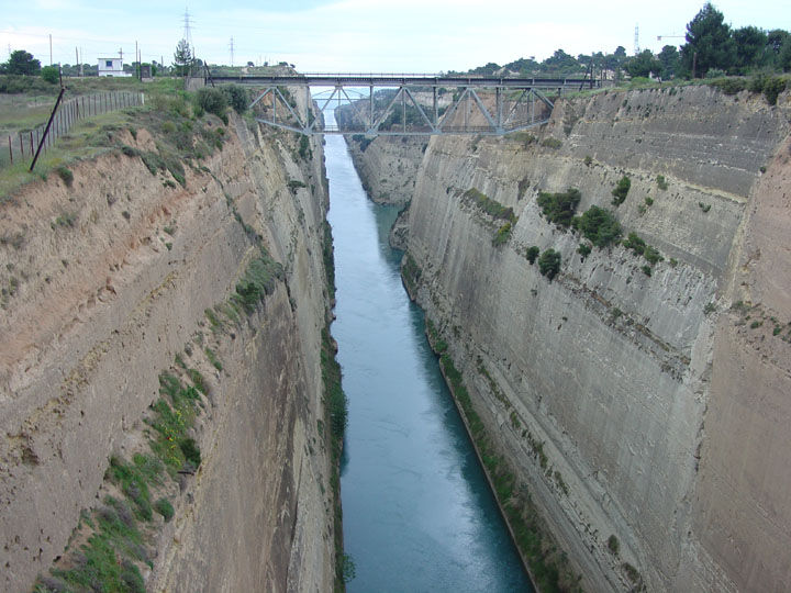 Corinth Canal, Greece - Travel Photos by Galen R Frysinger ...