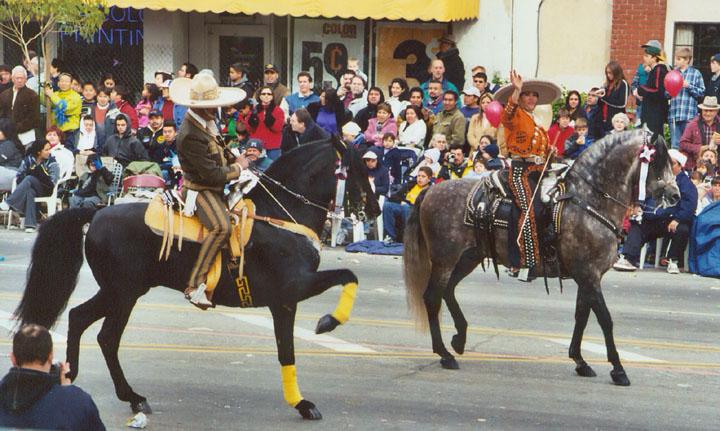 Equestrian Units In The 2004 Rose Bowl Parade Pasadena