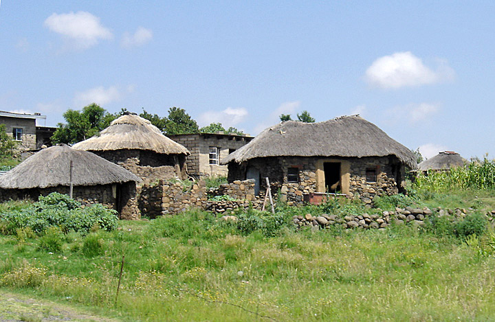 Traditional Housing Style In Lesotho Africa Travel