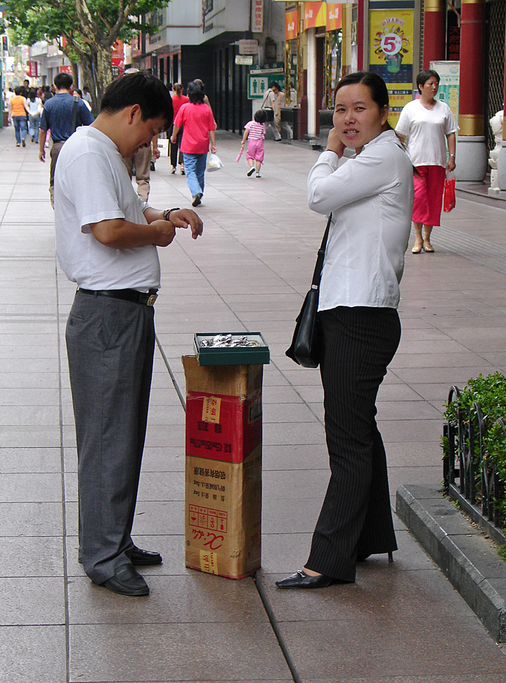 The People Of Shanghai Along Nanjing Road Travel Photos