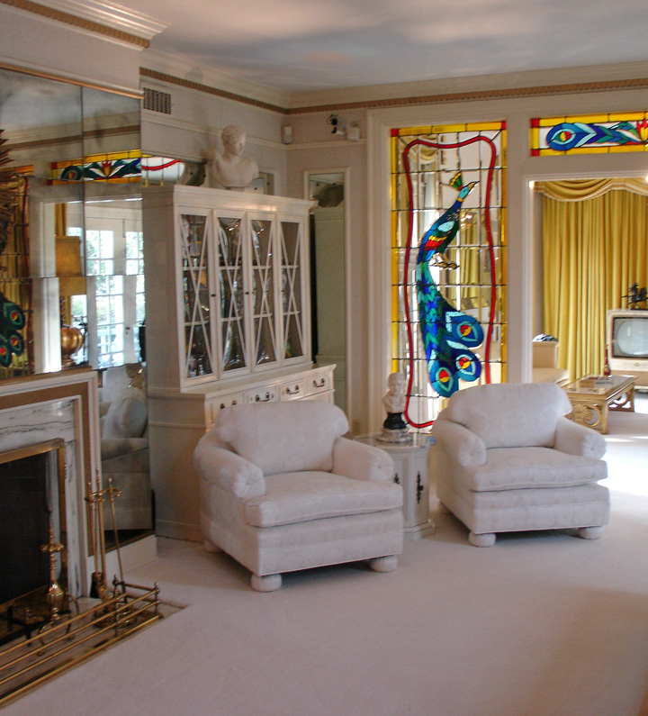 Interior Of The Graceland Mansion Of Elvis Presley