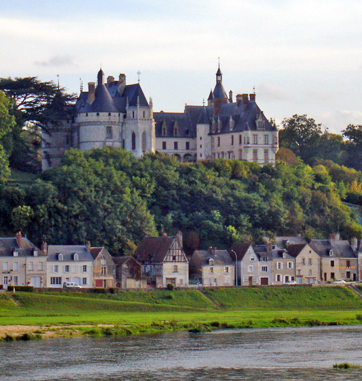 The chateau on the loire river
