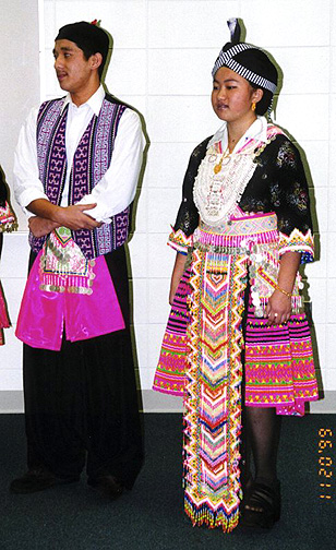 Hmong Costumes in Sheboygan, Wisconsin - Photos by Galen R
