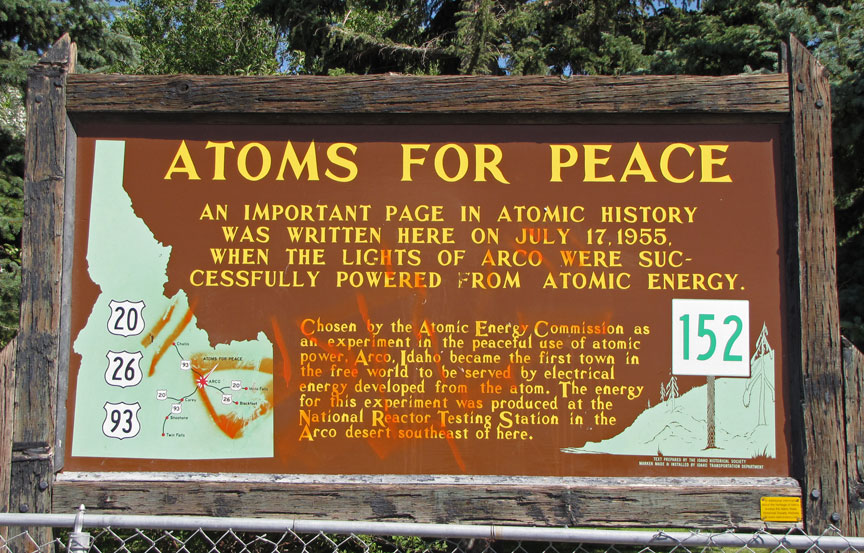 Arco And Atomic City Idaho First Atomic Power Travel