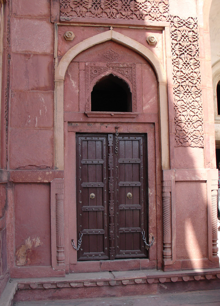 Mughal Style Architecture In The Red Fort Agara India