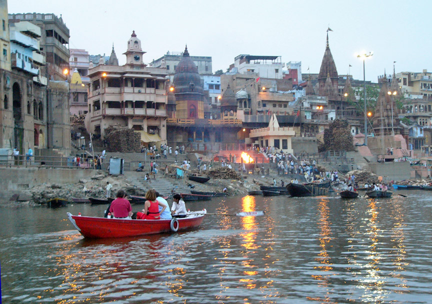 On the banks of the river ganges