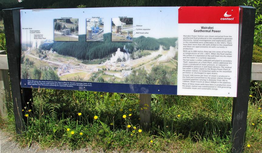 Wairakei binary geothermal power plant