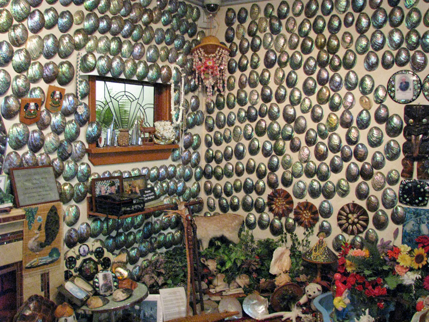 paua shell house of fred and myrtle in the cantubury museum