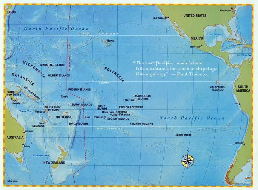 pacific ocean map with islands - photo #12
