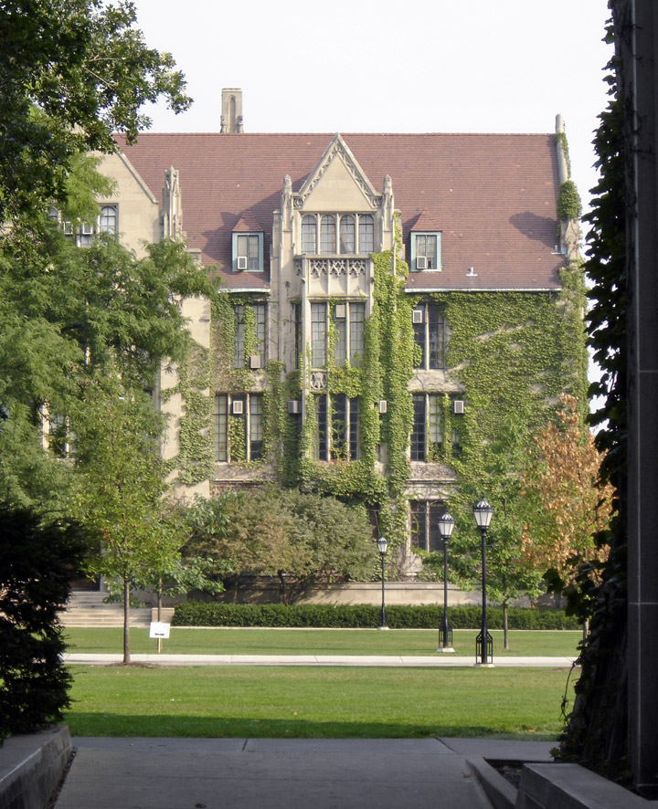 Neo Gothic Buildings At The University Of Chicago