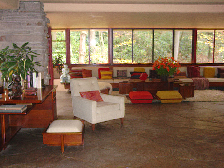 Interior Of Fallingwater A Frank Lloyd Wright Designed