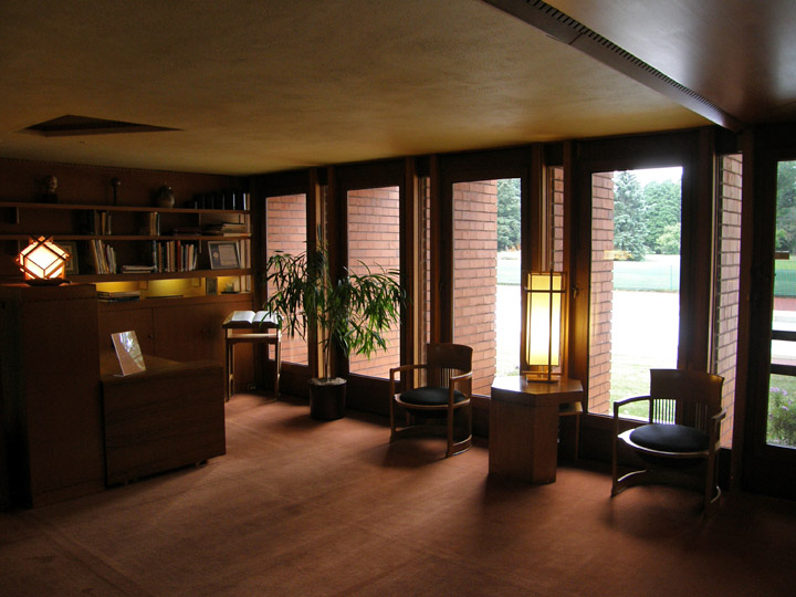 Interior Of Wingspread Johnson House In Racine Wisconsin