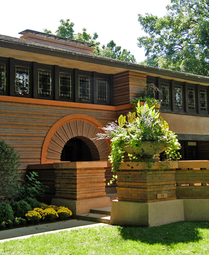 Frank lloyd wright prairie house home design for Frank lloyd wright prairie house plans